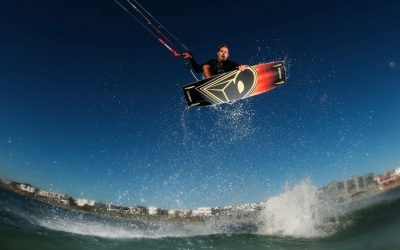 Oswald Smith, the professional kiteboarding world champion.