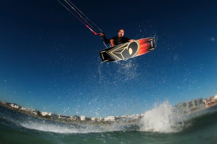 Oswald Smith, the professional kiteboarding world champion.