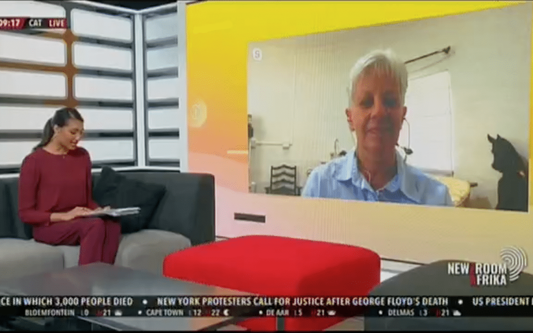 Brainline CEO Coleen Cronje is interviewed by Newzroom Afrika ahead of the reopening of schools following the coronavirus lockdown