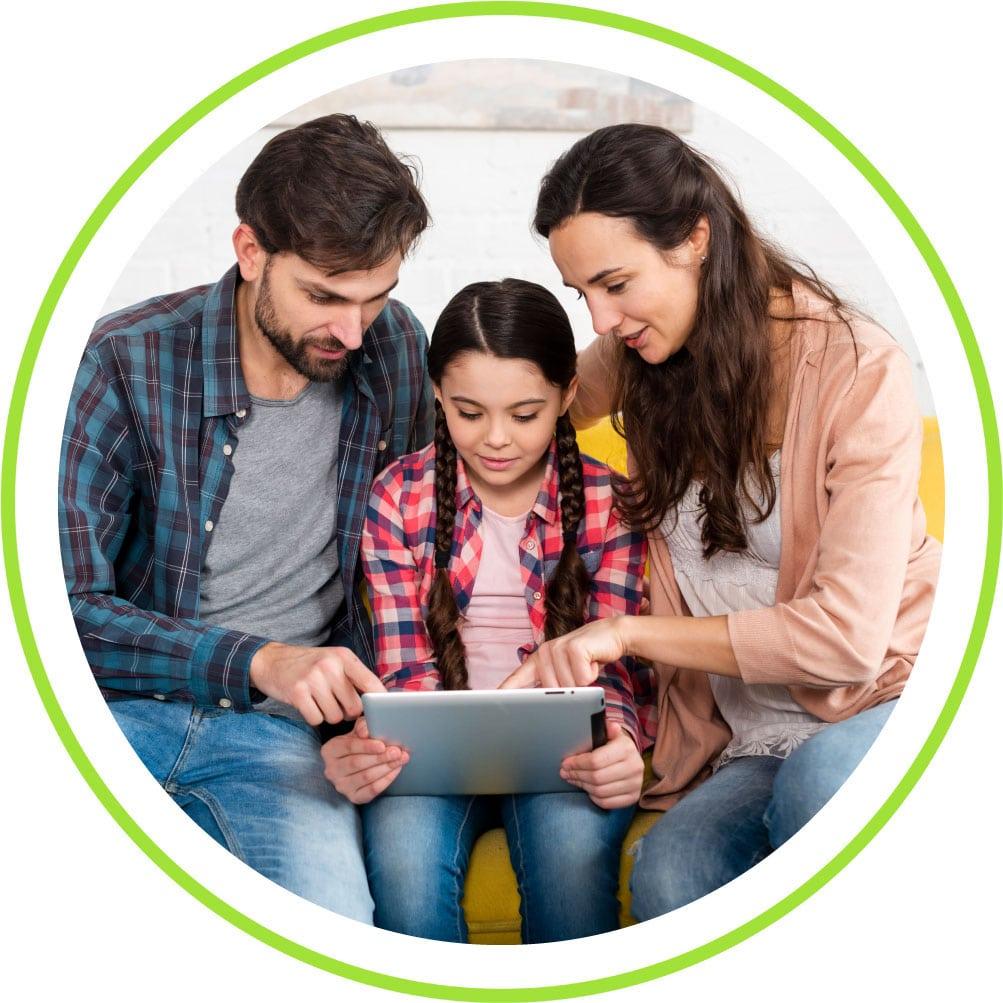parents homeschooling their kid